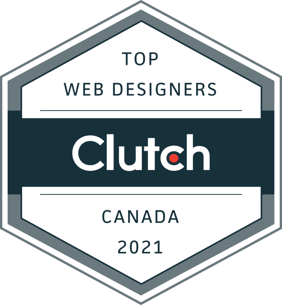 Award from Clutch for being one of the top web designers in Canada in 2021