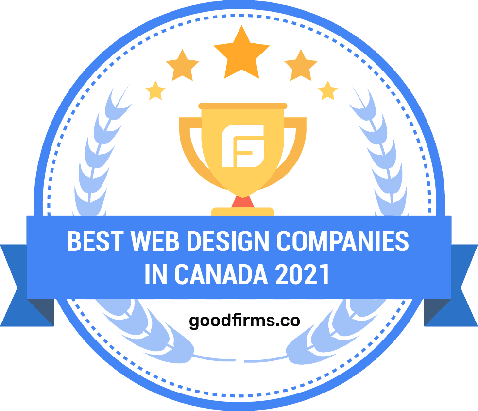 Award from GoodFirms for being one of the best web design companies in Canada in 2021