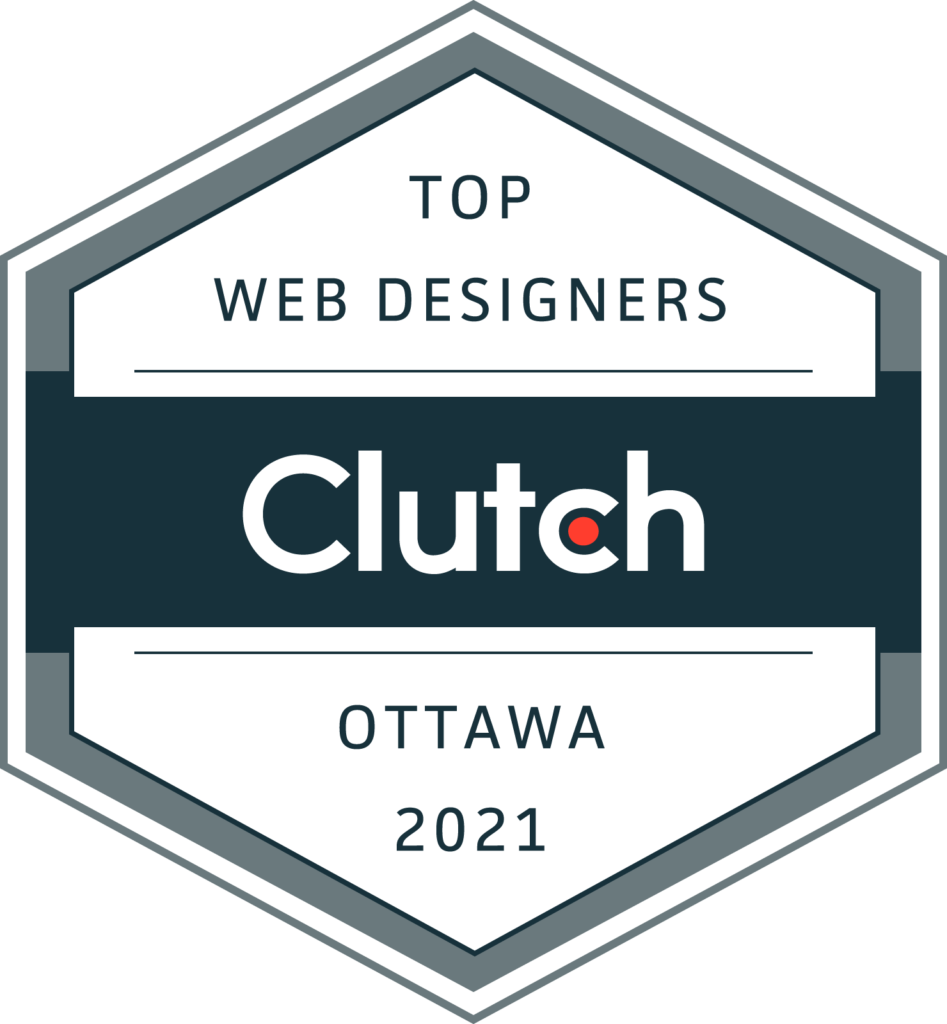 Award from Clutch for being one of the top web designers in Ottawa in 2021