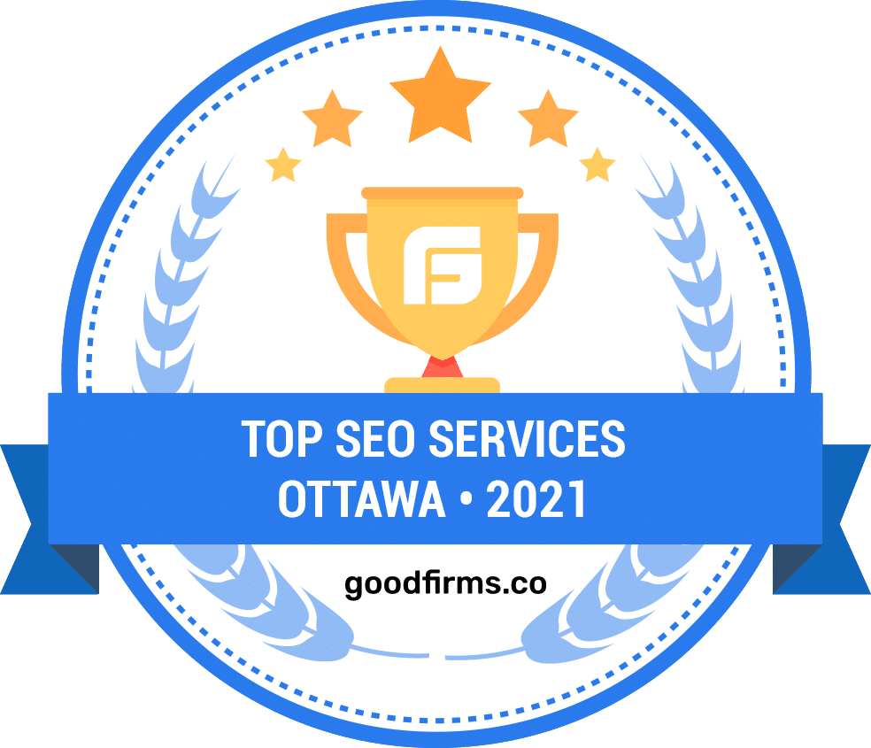 Award from GoodFirms for being one of the top SEO services in Ottawa in 2021