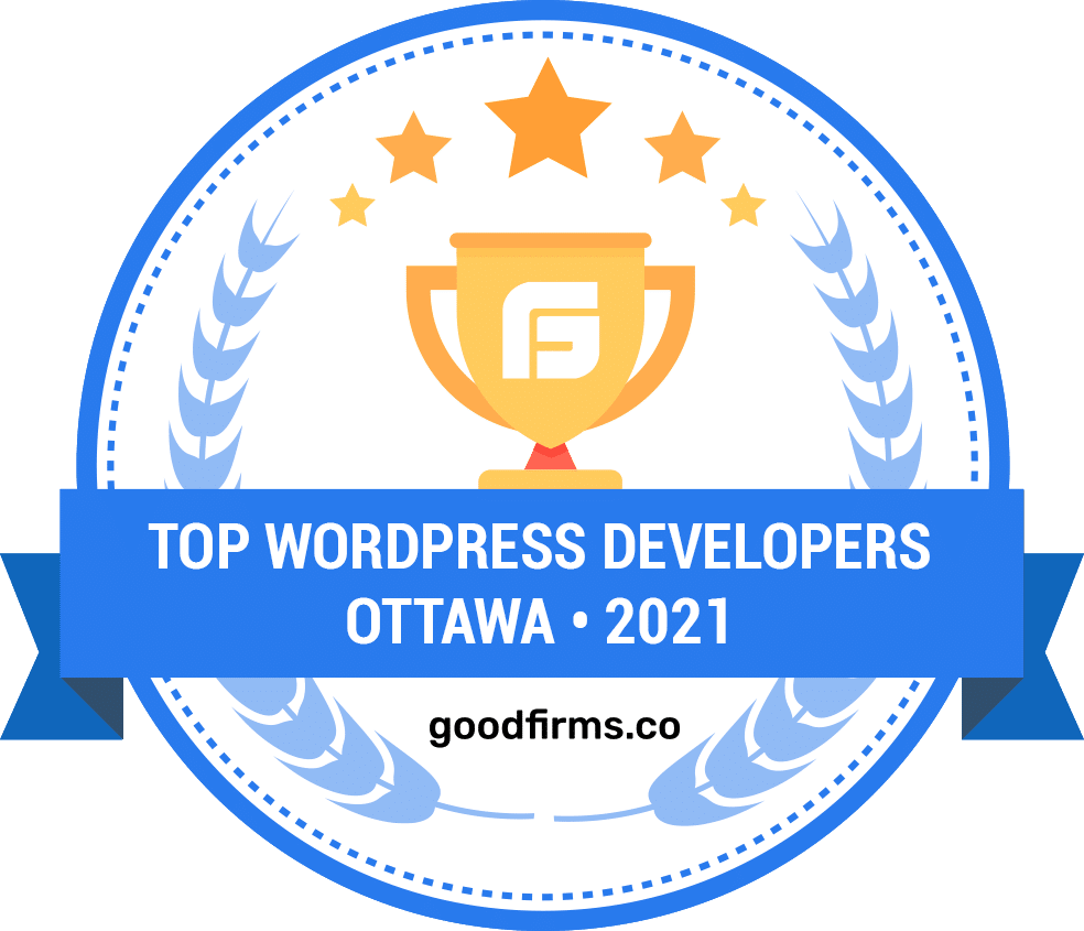 Award from GoodFirms for being one of the top WordPress developers in Ottawa in 2021