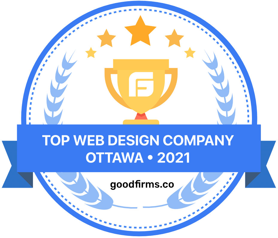 Award from GoodFirms for being one of the top web design company in Ottawa in 2021